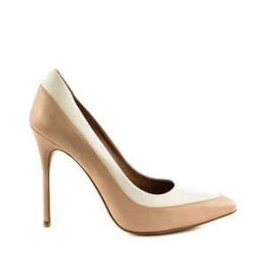 Aldo Bone White & Light Tan Ibywien Stiletto
